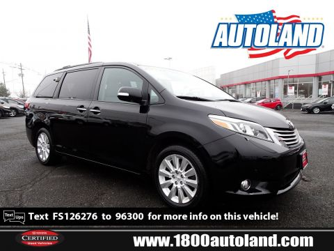 Pre-Owned 2015 Toyota Sienna Ltd Premium AWD Mini-van, Passenger